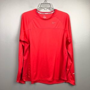 Nike Dri-Fit Running Workout Long Sleeve Orange 1X